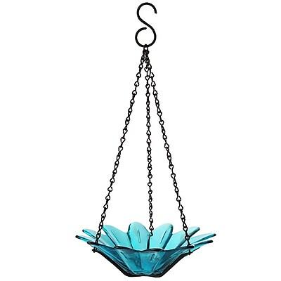 Couronne Daisy Decorative Tray Bird Feeder; Aqua