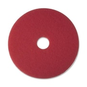 3M Buffer Pad, Removes Scuff Marks, 16'', 5/CT, Red
