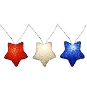 PennDistributing 10 Light RWB Sparkle Star Set