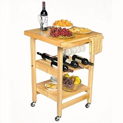 Oasis Concepts Entertainer Folding Kitchen Cart W Wine Storage image