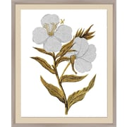 PTM Images Natures Beauty Gold and Silver Leaf Embellished Framed Painting Print
