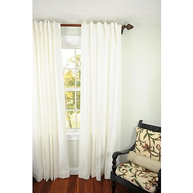 Art Home Solid Semi-Sheer Rod Pocket Single Curtain Panel