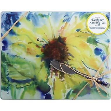 LS Arts, Inc. Sunflower Cheese Board