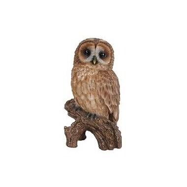 Hi-Line Gift Ltd. Tawny Owl on Stump Statue