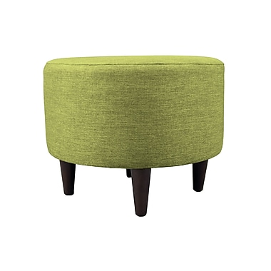 MJLFurniture Key Largo Sophia Round Standard Ottoman; Grass