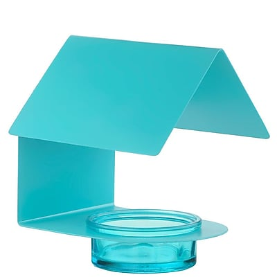 Couronne House Tray Bird Feeder; Aqua (WYF078278590931) photo
