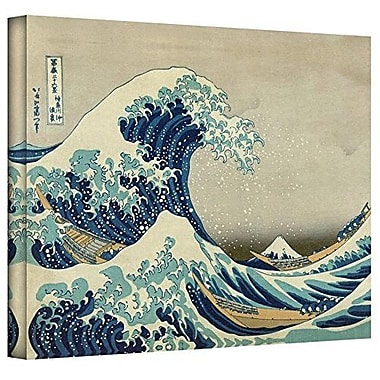 Buy Art For Less The Great Wave Off Kanagawa by Katsushika Hokusai Graphic Art on Wrapped Canvas