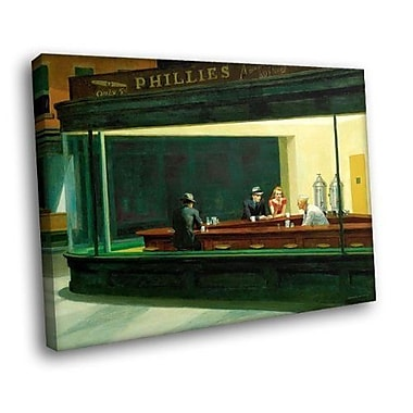 Alcott Hill 'Nighthawks Phillies' by Edward Hopper Painting Print on Canvas