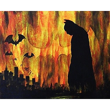 Buy Art For Less Dark Night Over the City by Ed Capeau Painting Print on Wrapped Canvas