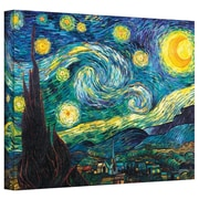 Buy Art For Less Starry Night by Vincent Van Gogh Painting Print on Wrapped Canvas