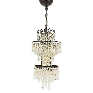 Manor Luxe Tier Antigue 1-Light Crystal Pendant
