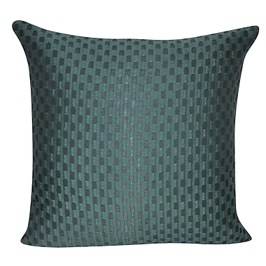 Loom and Mill Checkered Decorative Throw Pillow; Green