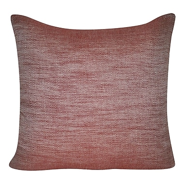 Loom and Mill Herringbone Decorative Throw Pillow; Red