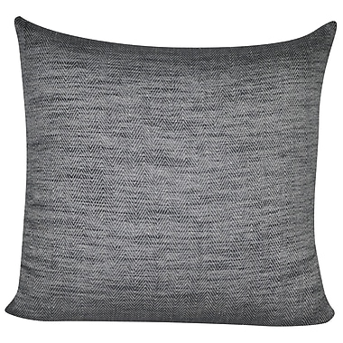 Loom and Mill Herringbone Decorative Throw Pillow; Charcoal
