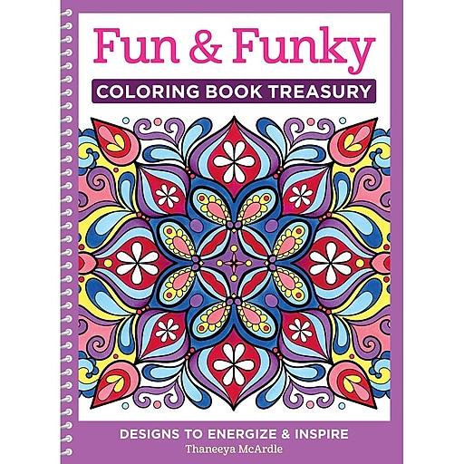 Design Originals Fun and Funky Coloring Book, Spiral-bound, Adult Coloring Book