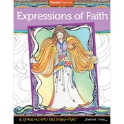 Design Originals Expressions of Faith Coloring Book, Softcover, Adult Coloring Book