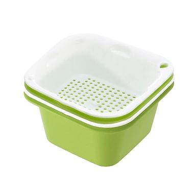 Richell Stackable Steam'n Salad Bowl 4-Piece-Set