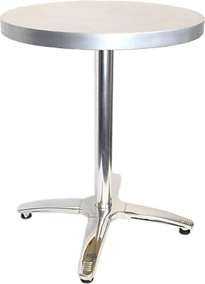 Mio Metals 36 in. Round Dining Table; Zinc