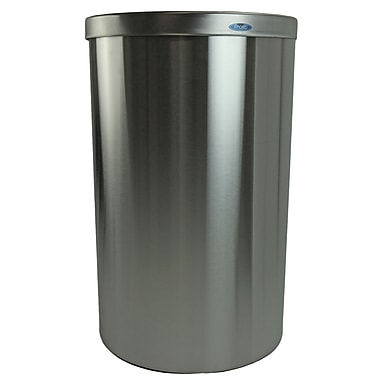 Frost Receptacle 32 Gallon Trash Can; Stainless Steel