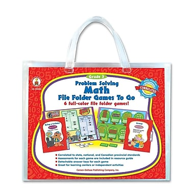 CARSON-DELLOSA PUBLISHING Grade 3 Problem Solving Math Game