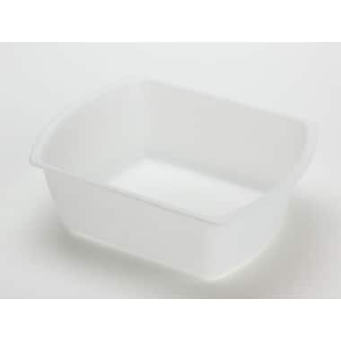 Medline Rectangular Plastic Washbasins, Clear, 6 qt, 50/Pack