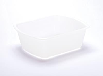 Medline Rectangle Plastic Washbasins, Clear, 8 qt, 50/Pack