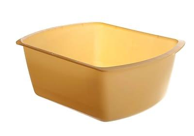 Medline Rectangle Plastic Washbasins, Gold, 4 1/4