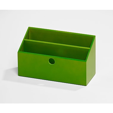 Bindertek Bright Wood Desk Organizing System, Letter Box, Green (BTLBOX-GR)