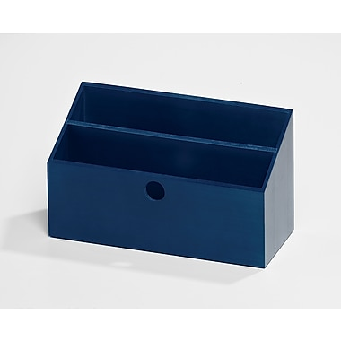 Bindertek Bright Wood Desk Organizing System, Letter Box, Navy (BTLBOX-NV)