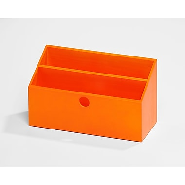 Bindertek Bright Wood Desk Organizing System, Letter Box, Orange (BTLBOX-OR)