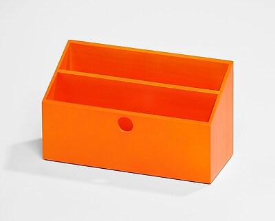 Bindertek Bright Wood Desk Organizing System Letter Box; Orange (BTLBOX-OR)