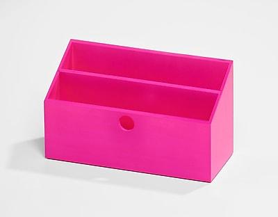 Bindertek Bright Wood Desk Organizing System Letter Box; Pink (BTLBOX-PK)