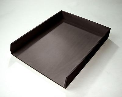 Bindertek Bright Wood Desk Stackable Letter Paper Tray, Black (BTLTRAY-BK)