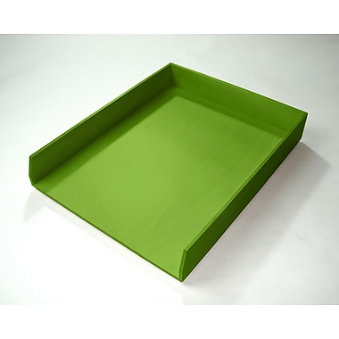Bindertek Bright Wood Desk Organizing System, Letter Tray, Green (BTLTRAY-GR)