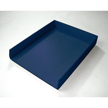 Bindertek Bright Wood Desk Organizing System, Letter Tray, Navy (BTLTRAY-NV)