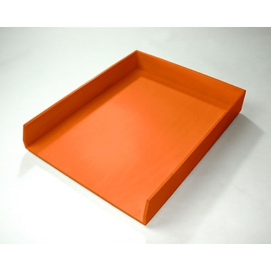 Bindertek Bright Wood Desk Organizing System, Letter Tray, Orange (BTLTRAY-OR)