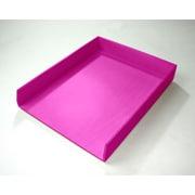 Bindertek Bright Wood Desk Organizing System, Letter Tray, Pink (BTLTRAY PK) by