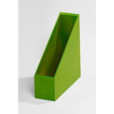 Bindertek – Ensemble de rangement de bureau avec porte-revue en bois de couleur vive, vert (BTMAG-GR)