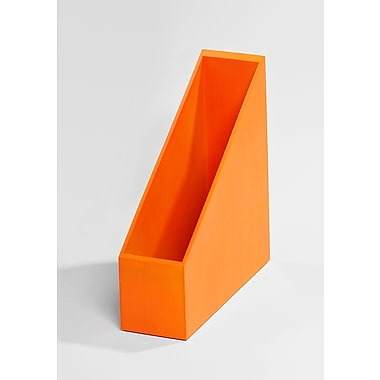Bindertek Bright Wood Desk Organizing System, Magazine File, Orange (BTMAG-OR)