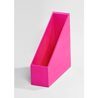 Bindertek – Accessoire de rangement de bureau en bois de couleur vive, porte-revues, rose (BTMAG-PK)