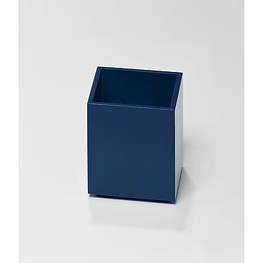 Bindertek – Accessoire de rangement de bureau en bois de couleur vive, porte-crayons, bleu marine (BTPCUP-NV)