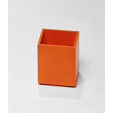 Bindertek Bright Wood Desk Organizing System, Pencil Cup, Orange (BTPCUP-OR)
