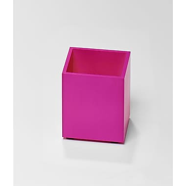 Bindertek Bright Wood Desk Organizing System, Pencil Cup, Pink (BTPCUP-PK)