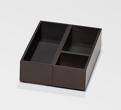 Bindertek Bright Wood Desk Organizing System Storage Box Set; Black (BTSBOX-BK)