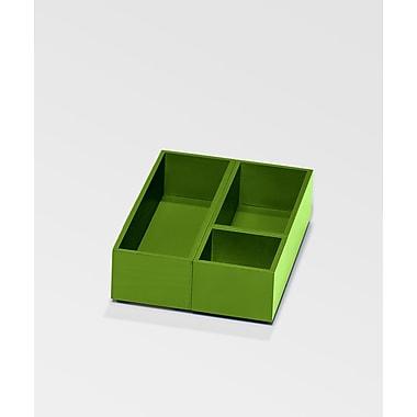 Bindertek – Système de rangement de bureau en bois de couleur vive, plateau et gobelet pour accessoires, vert (BTPCUP-GR)