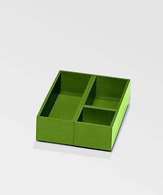 Bindertek Bright Wood Desk Organizing System Storage Box Set; Green (BTSBOX-GR)