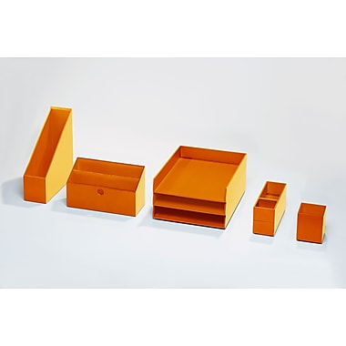 Bindertek – Ensemble de rangement de bureau en bois coloré, orange (BTSET4-OR)