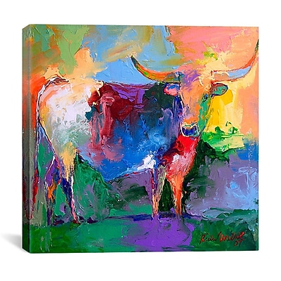 iCanvas ''Bull'' by Richard Wallich Painting Print on Canvas; 18'' H x 18'' W x 0.75'' D