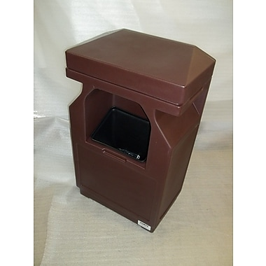 Forte Product Solutions Windshield Service Trash Can; Brown