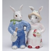 CosmosGifts Blossom Bunny 2-Piece Salt and Pepper Set